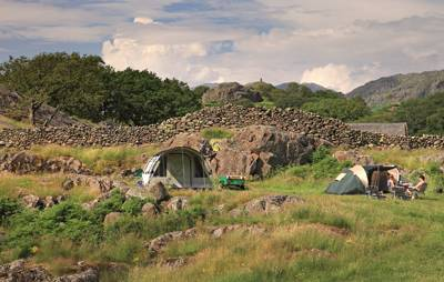 If you're looking for a truly remote, wilderness camping experience, you'd find it hard to do much better than Turner Hall Farm in the Lake District's lesser-visited Duddon Valley.