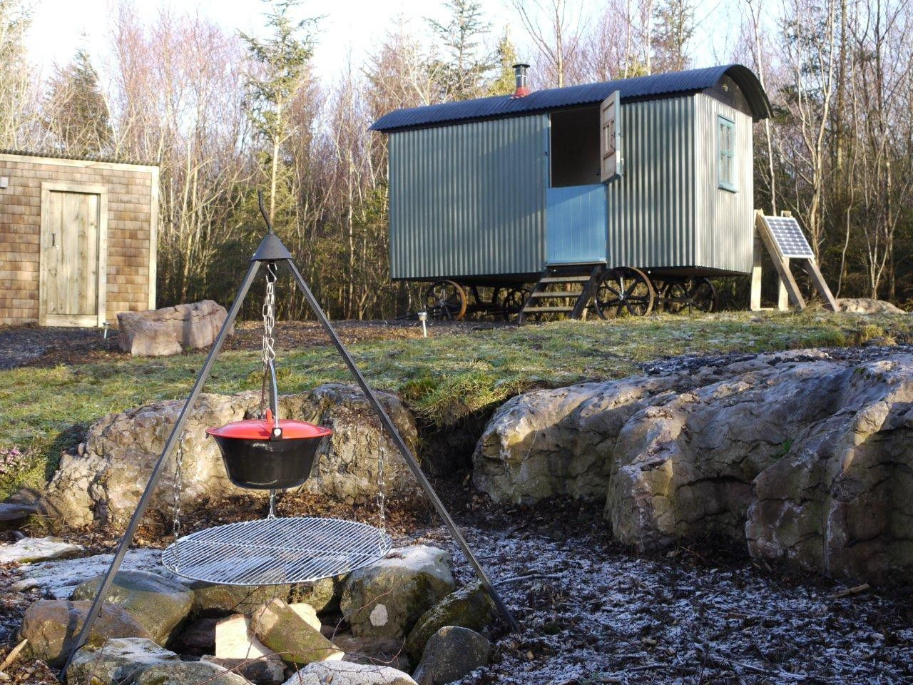 An eco-friendly glampsite high in the hills of the Lake District, amid the trees of a traditional working farm.