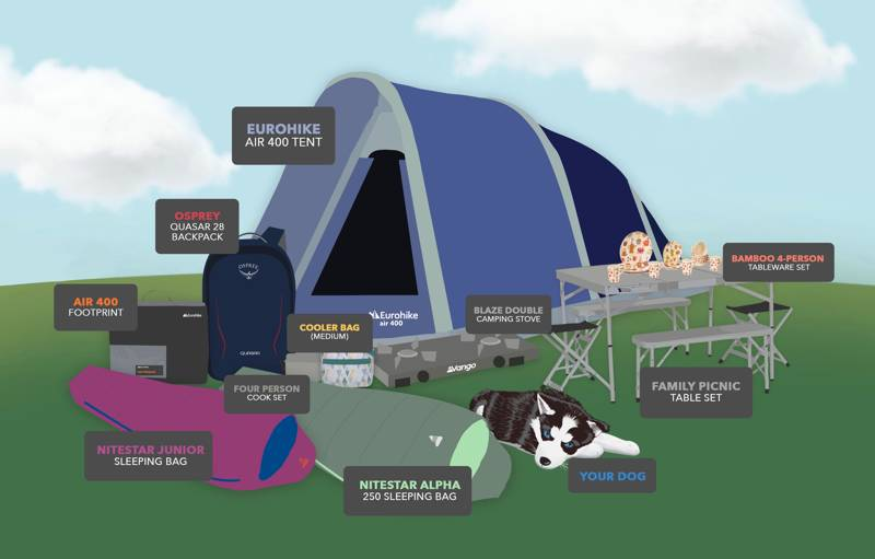 WIN over £1,000-worth of family camping equipment