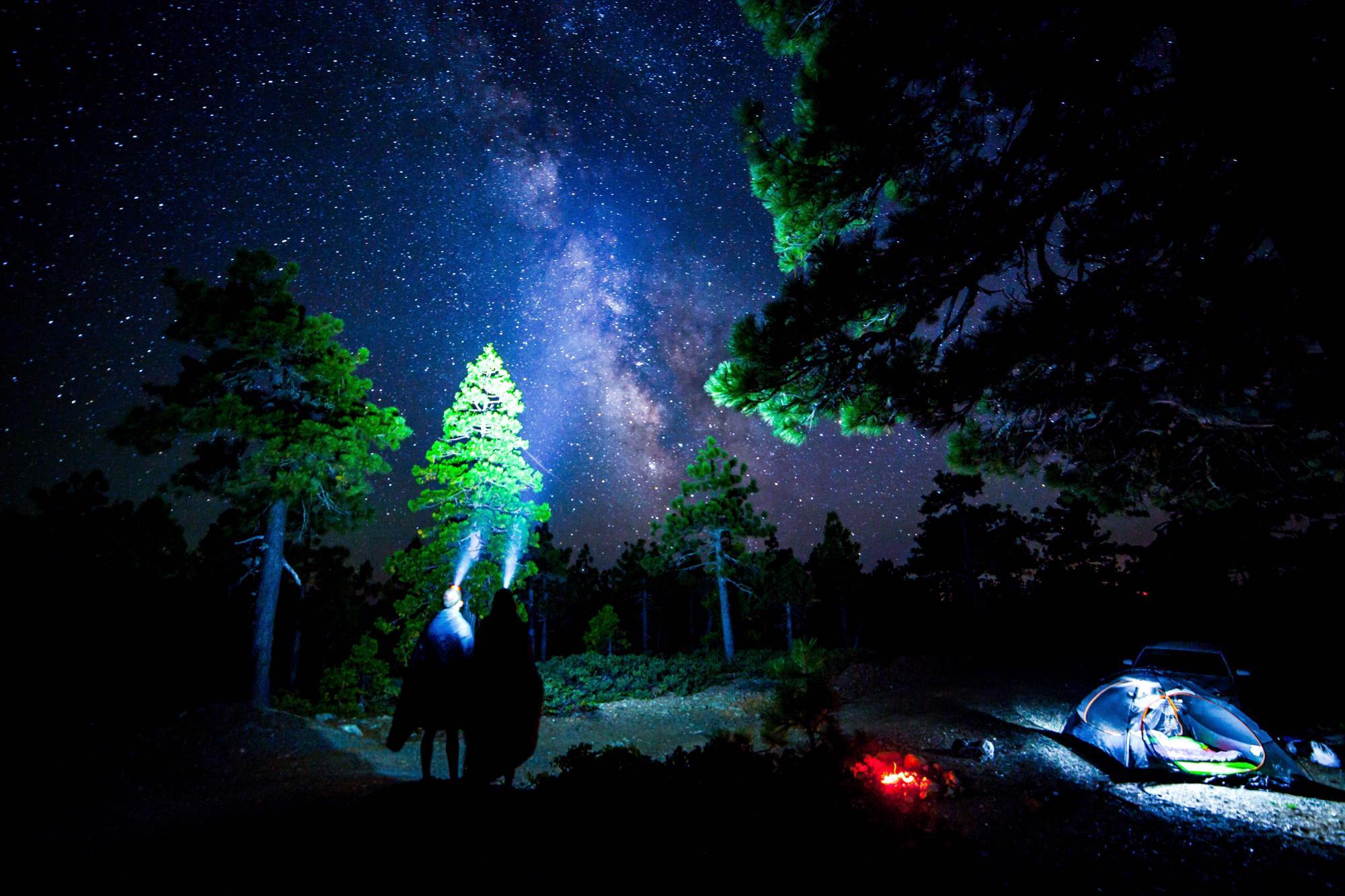 Campsite stargazing