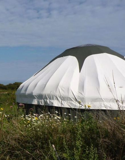Yurt glamping in Devon