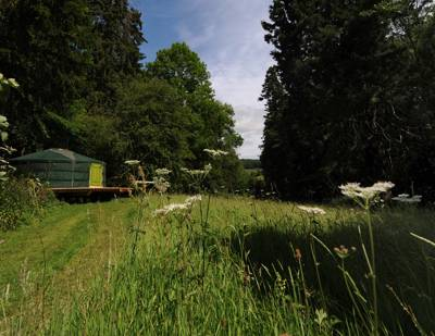 A family-run, eco-friendly glamping site set in 25 acres of woodland on the beautiful Welsh borders.