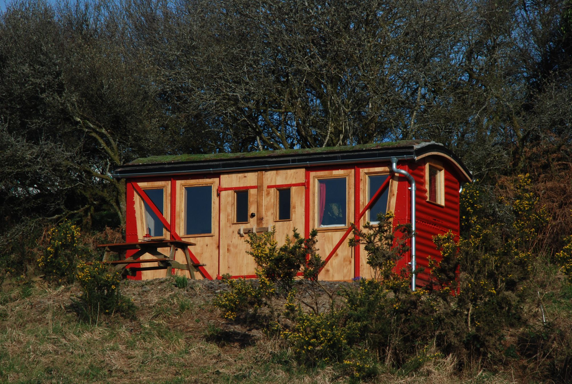 The Train Carriage At The Yurt Farm Cool Camping