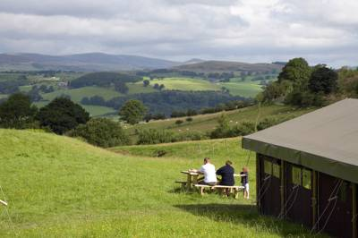 You're not, strictly speaking, 'camping' at a Feather Down Farm.
