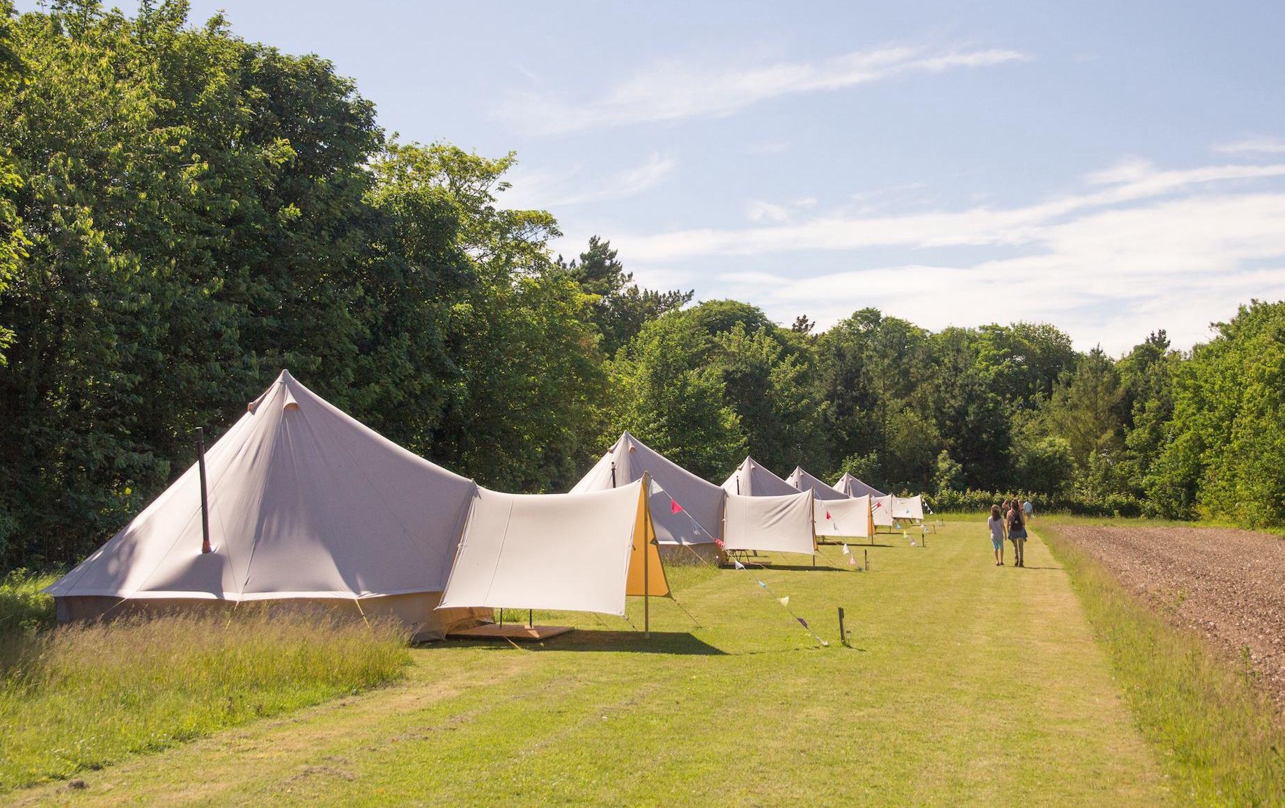 Bell Tent Glamping in Norfolk   Deer's