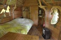 Treehouse glamping in a Normandy woodland