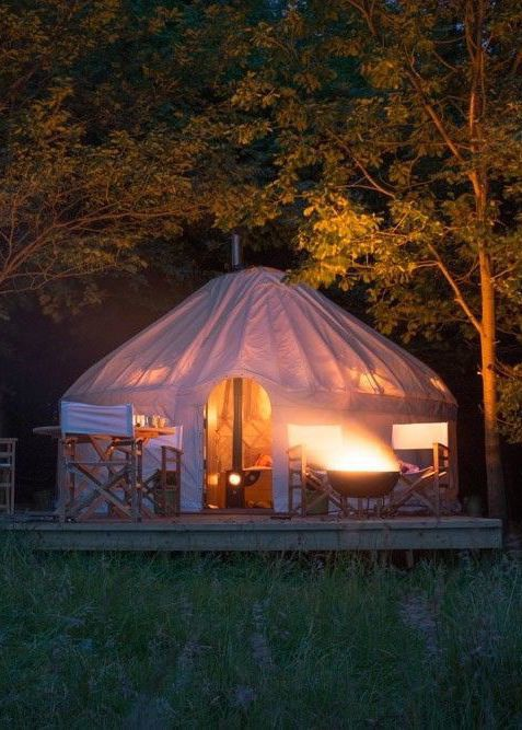 Glamping sites in Northumberland