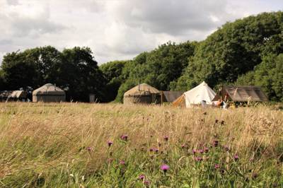 Stackpole Under the Stars: Camping and glamping on the Pembrokeshire coast, with the enchanting grounds of a country estate to explore next door.