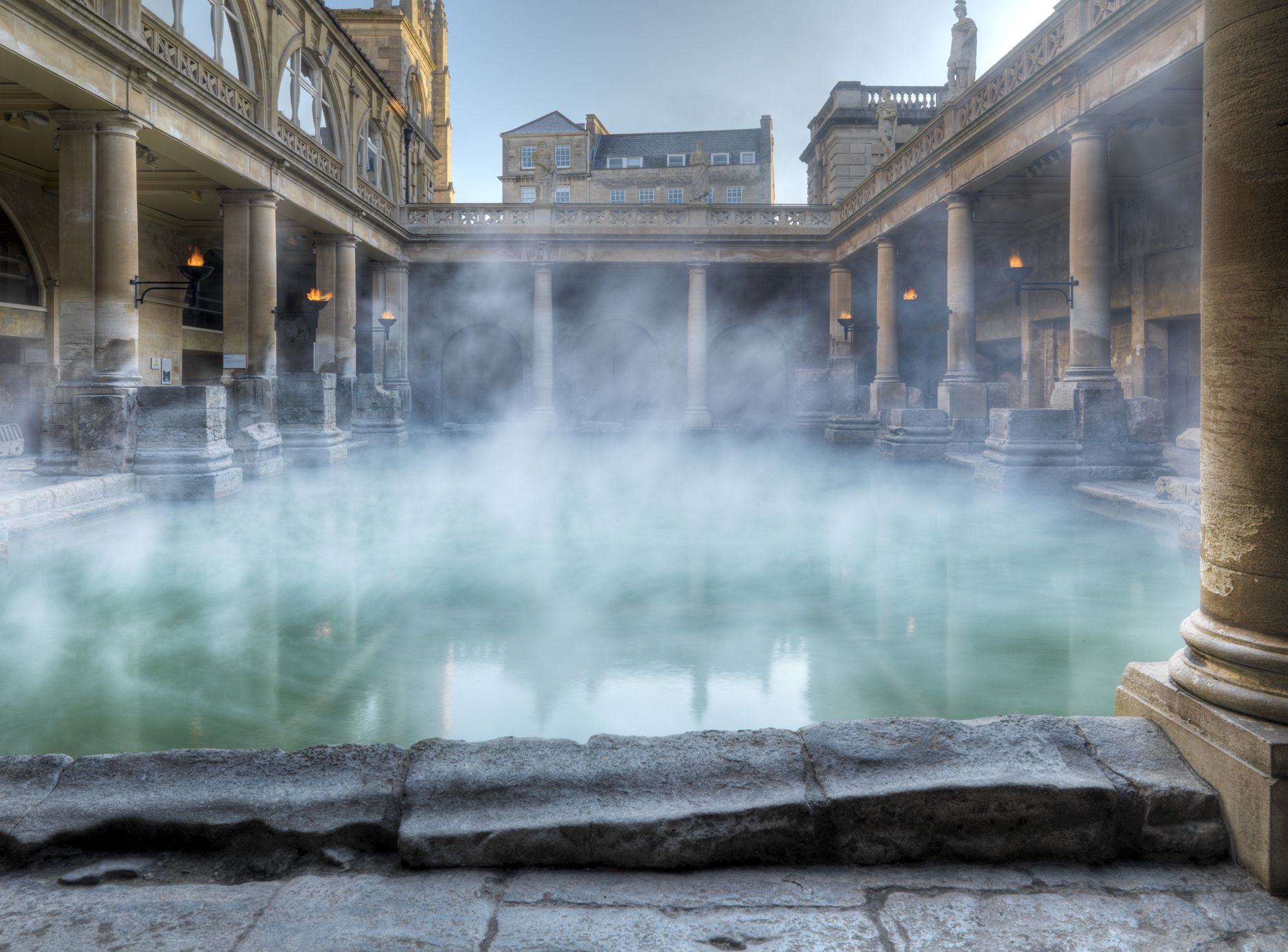 Bath - the elegant city of Bath is home to Britain's only natural hot springs