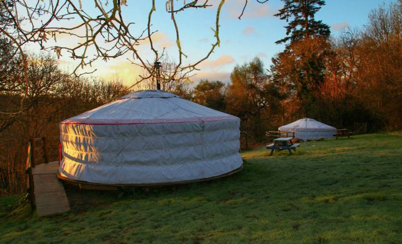 The Puddleduck Valley yurts – Barley Top and Snuggledown – set in rural North Devon.