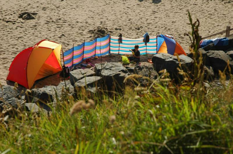 Cerenety Camping near Bude in North Cornwall.
