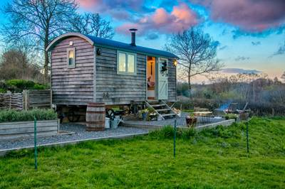 An exclusive hideaway in the Blackdown Hills where shepherd's hut glamping is the order of the day.