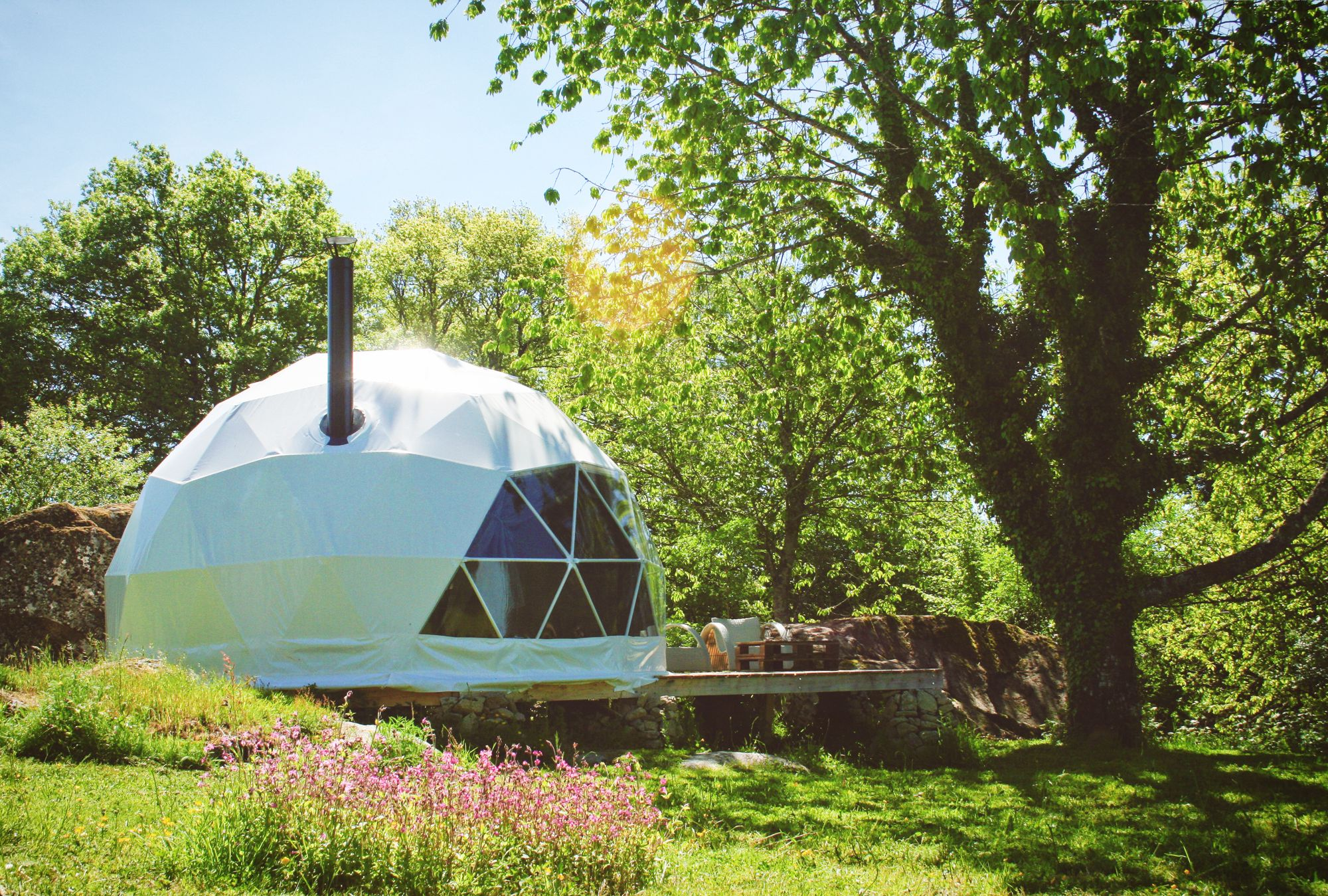 Glamping in Limousin holidays at Glampingly
