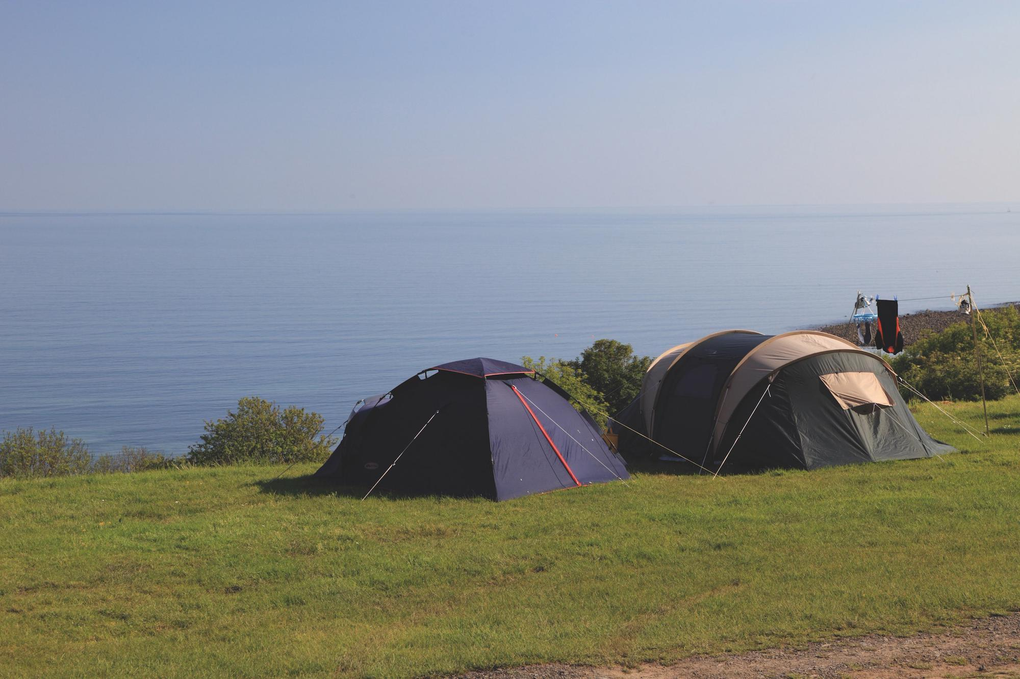 Campsites on the Llŷn Peninsula, North Wales