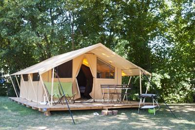 The Classic IV Wood & Canvas Tent at Huttopia Landes Sud