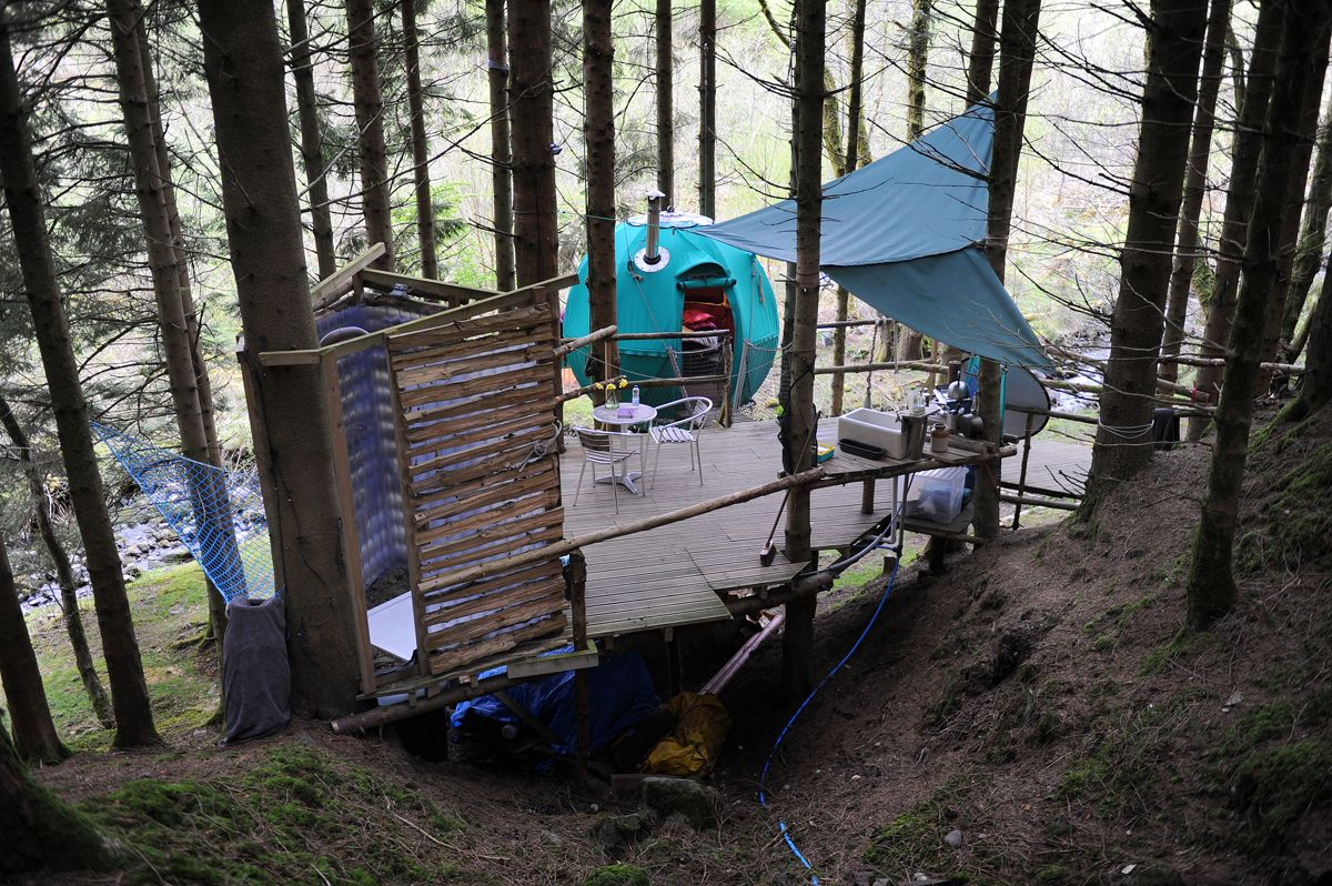 Campsites in Mid Wales holidays at Cool Places