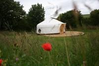 Family-sized yurt on the Cornish coast