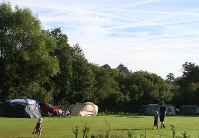 Be sure to bring your canoe to this Thame-side camping paradise.