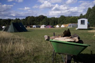 Lower Meadow camping pitch (1 tent or 1 van)