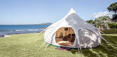 Win a Lotus Belle Tent worth £1,500 when you book with Cool Camping