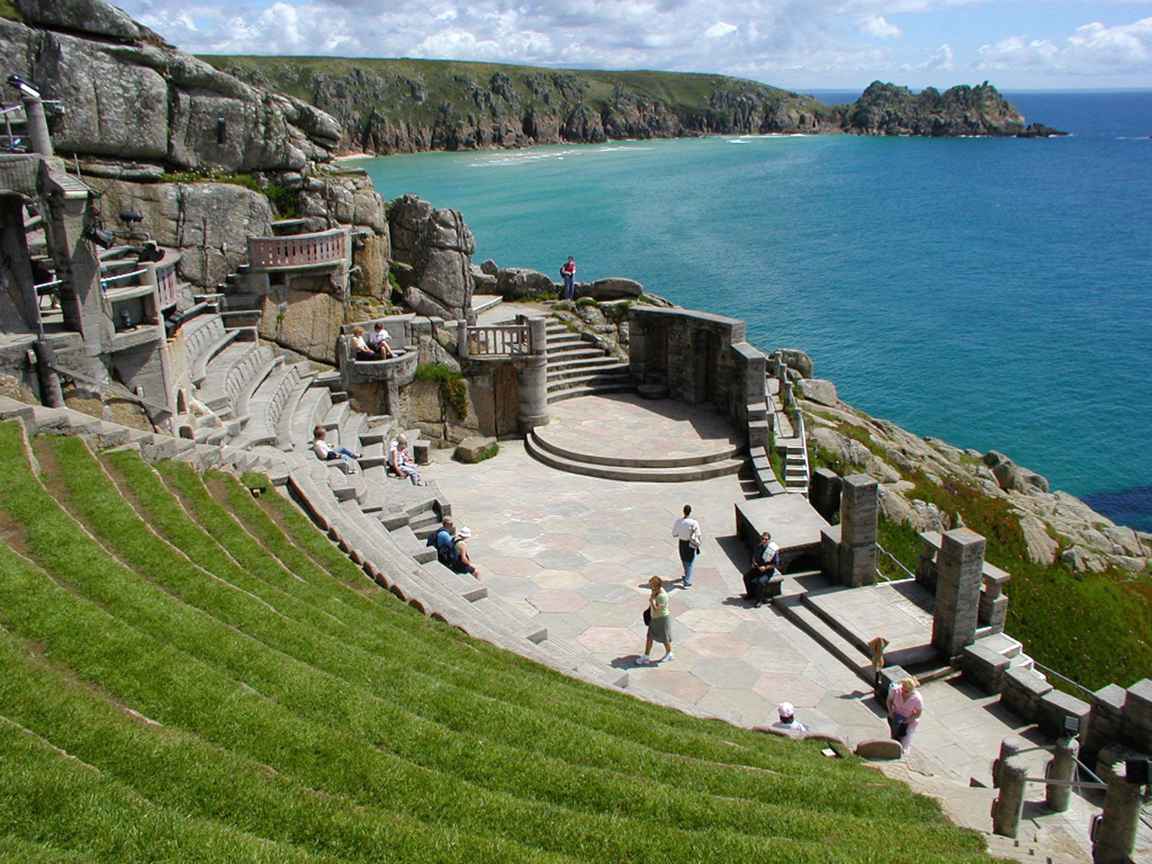 the minack theatre on a sunny day