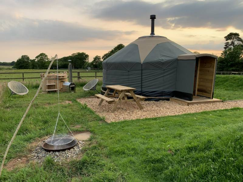 The Exclusive Hire of 2 Yurts