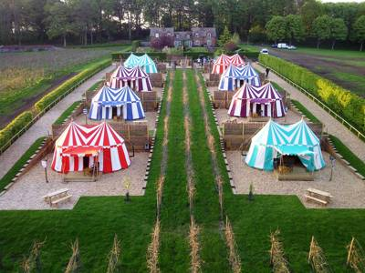 """My lords, ladies and gentlemen! Step back in time to experience the delights of medieval glampng at """"the loveliest castle in the world""""."""