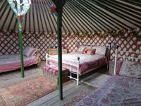 Yurt, set in a secluded spot with hot tub and sauna