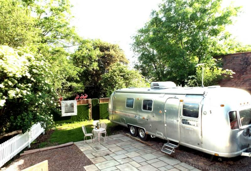 The Airstream & Cabin at House on the Brooks Hardham Mill, Hardham, Pulborough, West Sussex RH20 1LA
