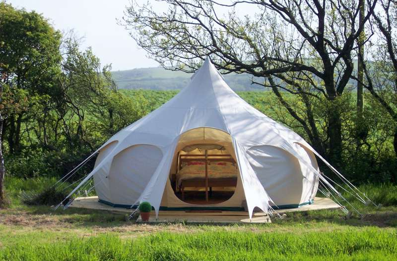Lotus Belle Tent 3 at Cheglinch Farm Glamping Cool Camping
