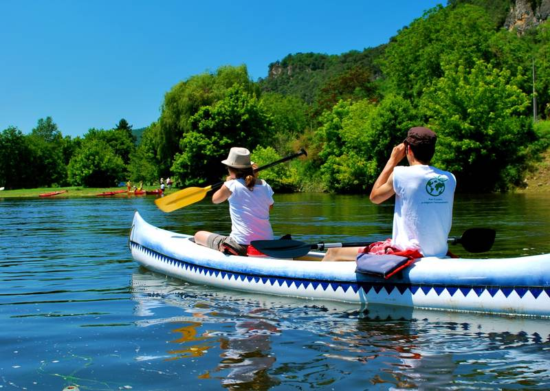 Canoeing is hugely popular on the Dordogne, with many rental companies along the river.