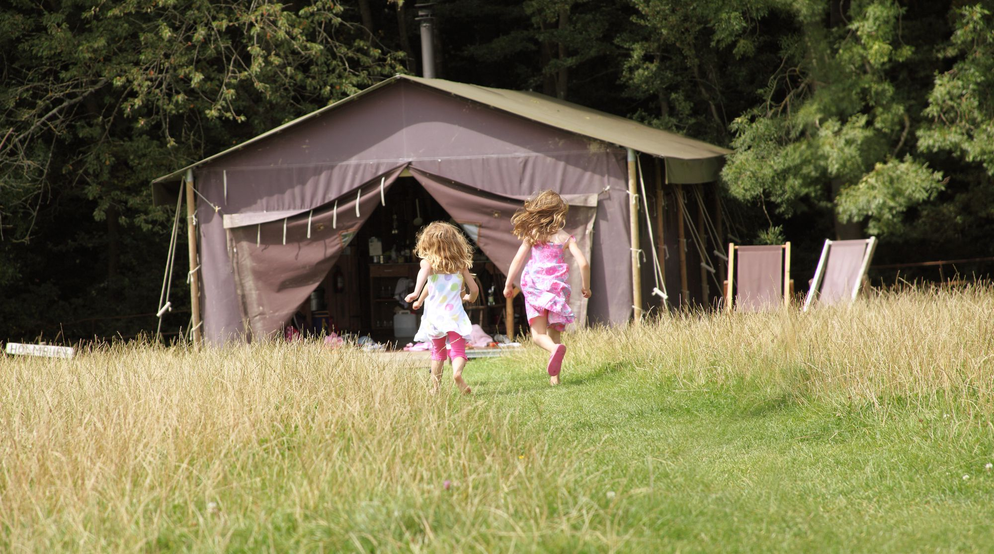 Family glamping on a quintessential English farm in south-east Essex.