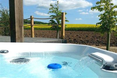 Luxury wooden lodges with views across the beautiful Chiltern Hills.