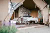 Family-friendly safari tent