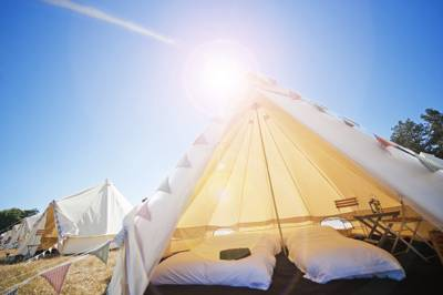 Bell tents at Yurtel