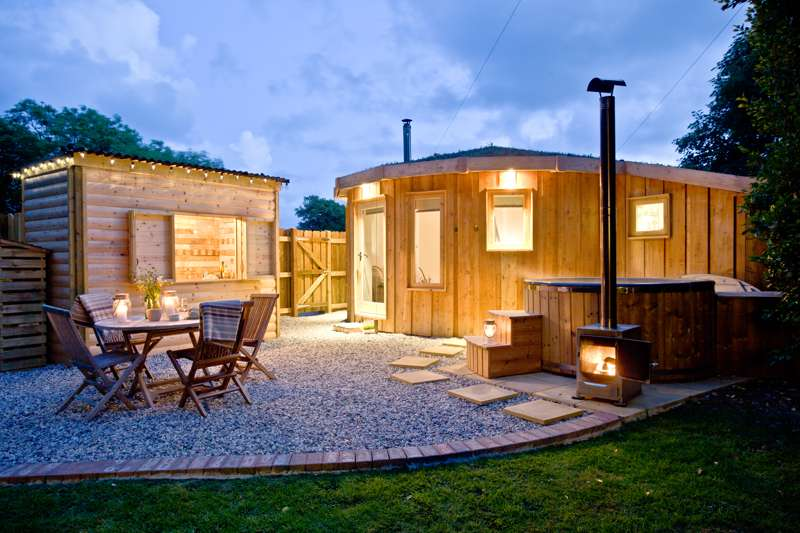 Unique roundhouse glamping near the Cornish coast