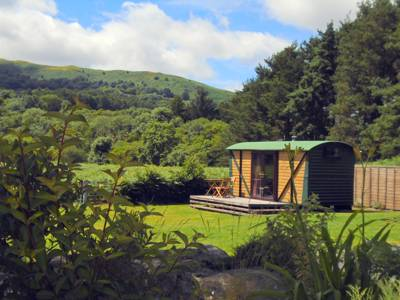 A hundred yards from the River Wye and surrounded by the Cambrian Mountains
