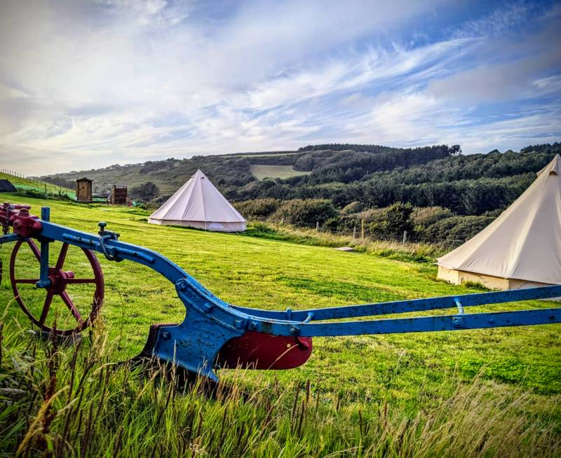 There are just five secluded pitches at Higher Pendeen Camping in Cornwall.
