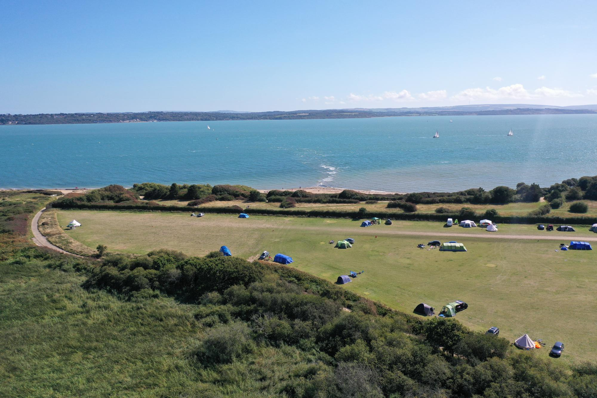 Lepe Beach Country Park Campsite