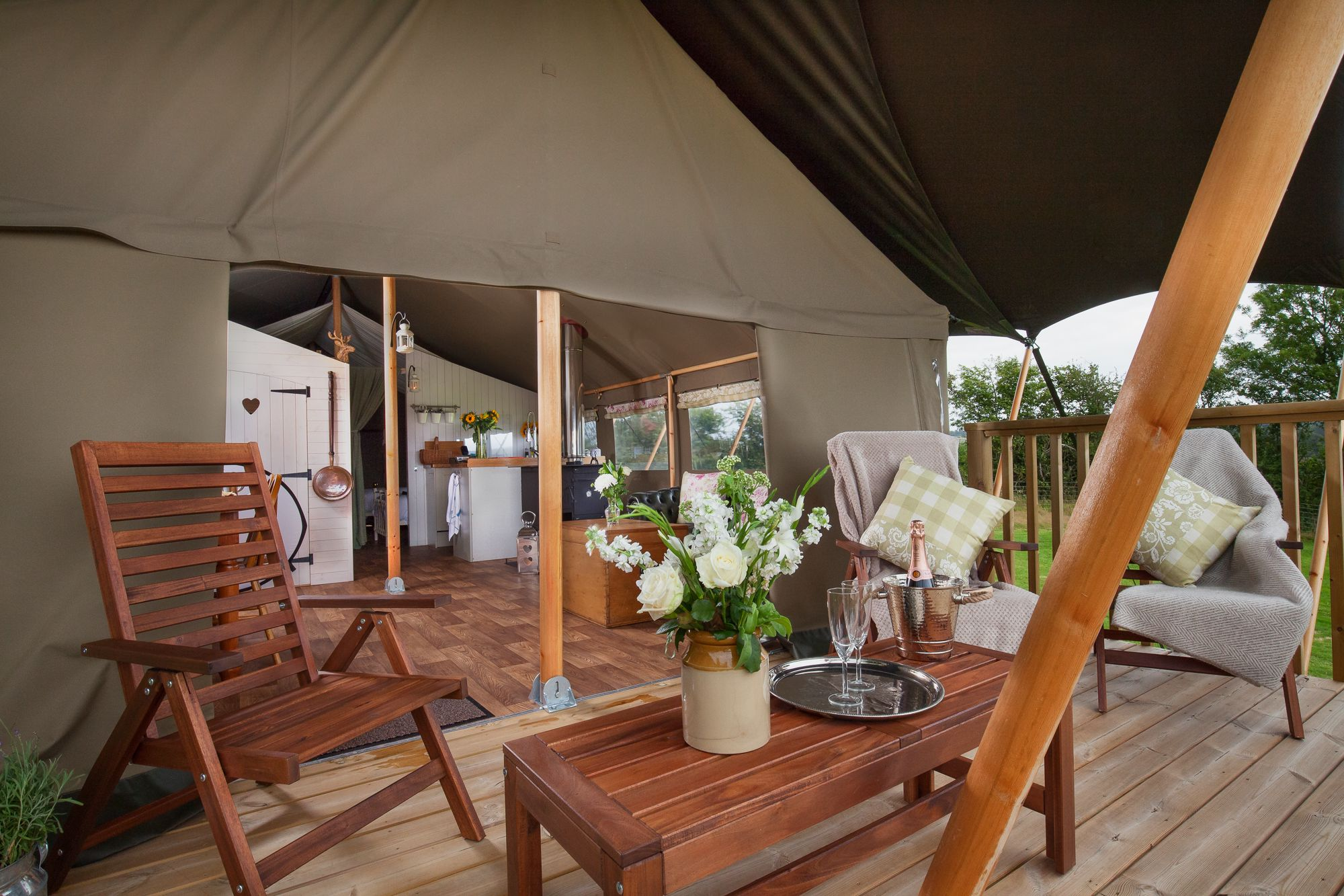 Glamping in Axminster holidays at Cool Places