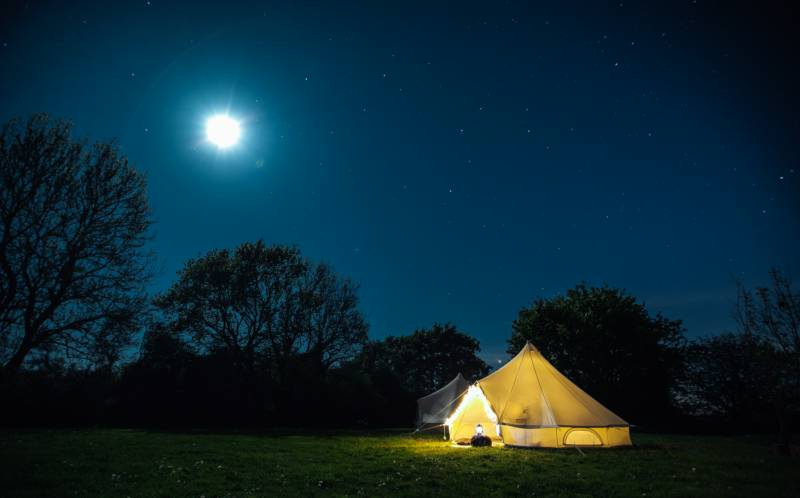 Fire Pit Bell Tent 1