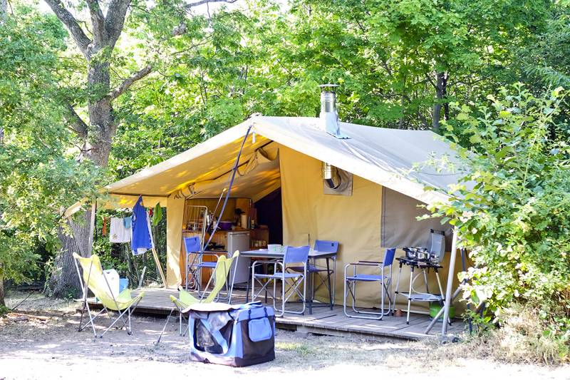 The Classic IV Wood and Canvas tent