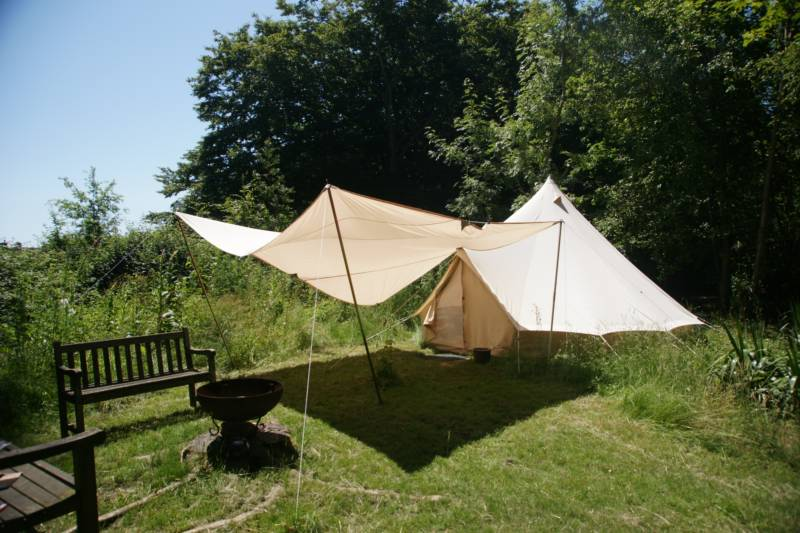 Very private Bell Tent hidden away in one of the Sussex High Weald's loveliest rural retreats.
