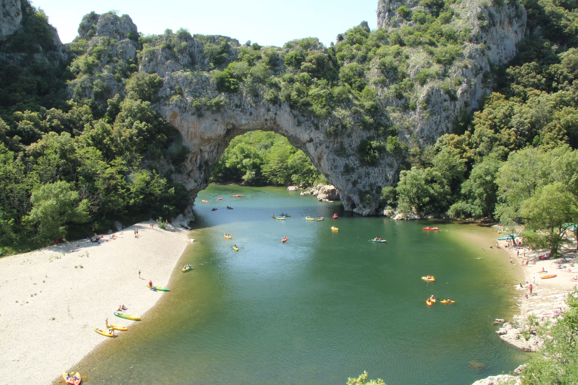Camping and glamping right next to the Gorges de l'Ardèche, a camping field, luxury yurts, safari tents, a beautiful river, and welcoming hosts.