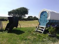 Quirky wagon glamping on a Cornish family farm