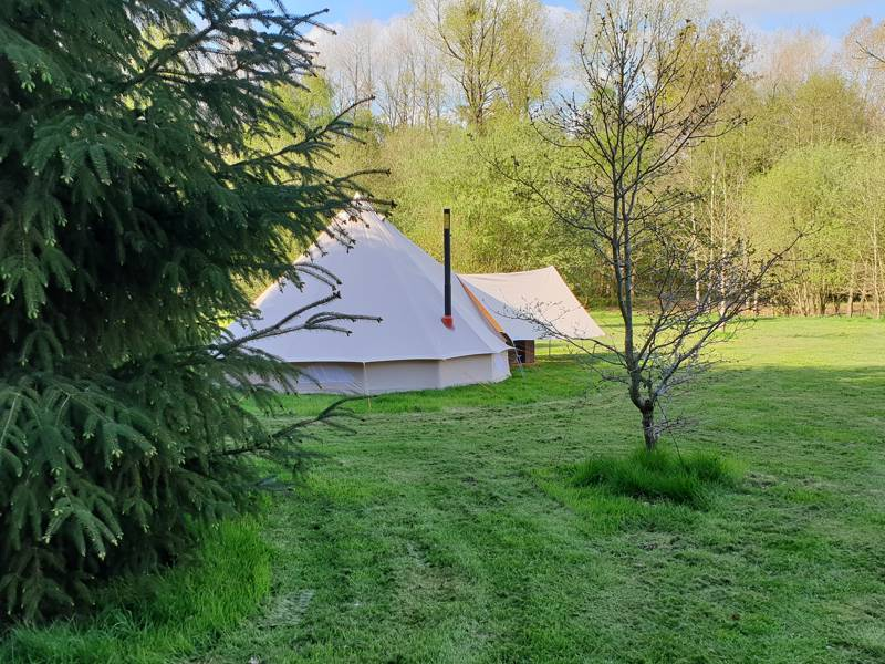Amber's Bell Tent Camping at Hopton Court Estate