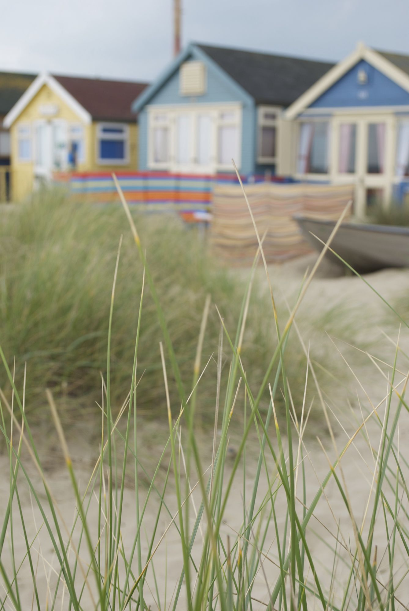 Mudeford sand spit is, in fact, a sort of shed shanty town: 365 beach huts (one for every day of the year, maybe?