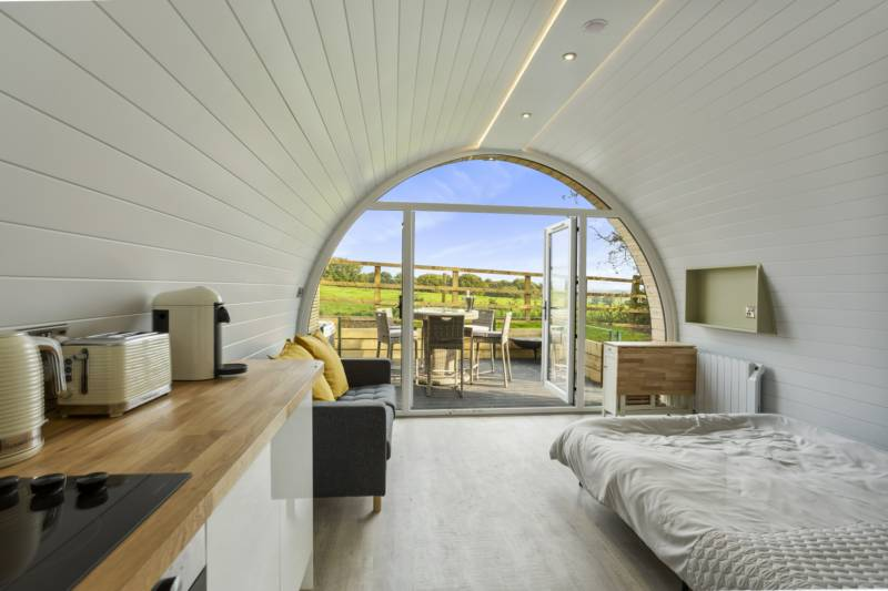 Park Hall Pods, Derbyshire, England.