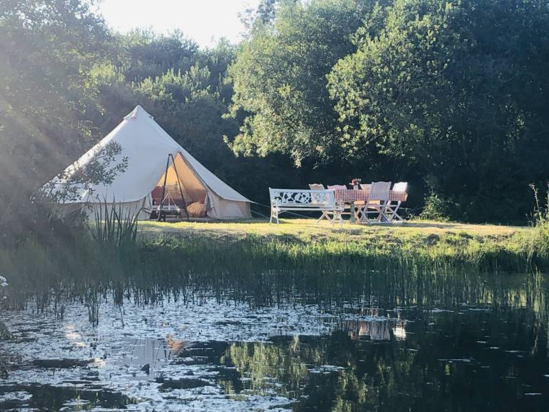 Bell tent tucked away in rural Cornwall