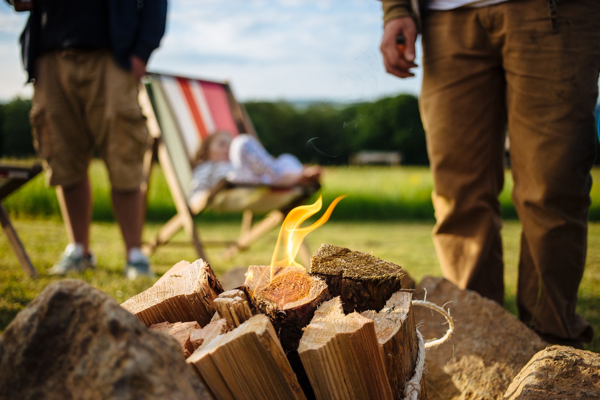 Campsites with campfires in Wales